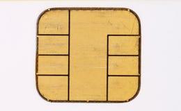 Χρησιμοποιημένο τσιπ μικροϋπολογιστών πιστωτικών καρτών Στοκ εικόνες με δικαίωμα ελεύθερης χρήσης