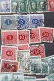 Χρησιμοποιημένο υπόβαθρο συλλογής γραμματοσήμων Στοκ φωτογραφία με δικαίωμα ελεύθερης χρήσης