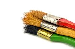 Χρησιμοποιημένο χρώμα βουρτσών χρωμάτων Στοκ εικόνα με δικαίωμα ελεύθερης χρήσης