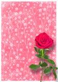 Χρησιμοποιημένο Grunge έγγραφο το ύφος με τα τριαντάφυλλα Στοκ Εικόνα