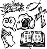 Χριστιανικά αντικείμενα Στοκ Εικόνες