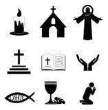 Χριστιανικά εικονίδια πίστης Στοκ εικόνες με δικαίωμα ελεύθερης χρήσης