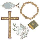 χριστιανικά σύμβολα Στοκ φωτογραφία με δικαίωμα ελεύθερης χρήσης