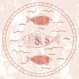 Χριστιανικά ψάρια συμβόλων Απεικόνιση αποθεμάτων