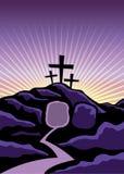 Χριστιανική απεικόνιση υποβάθρου Πάσχας Στοκ εικόνα με δικαίωμα ελεύθερης χρήσης
