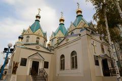 Χριστιανική εκκλησία σε Biysk στοκ φωτογραφία με δικαίωμα ελεύθερης χρήσης