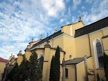 Χριστιανική εκκλησία ενάντια στον ουρανό Στοκ Εικόνα