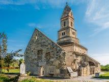 Χριστιανική εκκλησία Densus, Hunedoara, Ρουμανία Στοκ φωτογραφία με δικαίωμα ελεύθερης χρήσης
