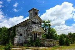 Χριστιανική εκκλησία Picher Οκλαχόμα περιοχών Superfund κολπίσκου πίσσας στοκ εικόνες