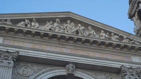 Χριστιανική επιγραφή στη βασιλική Αγίου Stephen απόθεμα βίντεο