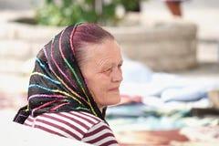 Χριστιανική πίστη γυναικών Μεσαίωνα που φορά ένα πέπλο, Μαυροβούνιο στοκ φωτογραφία με δικαίωμα ελεύθερης χρήσης