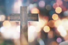 χριστιανικός διαγώνιος ξύ& Στοκ Φωτογραφίες