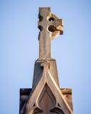 Χριστιανικός διαγώνιος ελλείπων βραχίονας - οδυνηρό σύμβολο της αύξησης Seculari Στοκ Φωτογραφίες