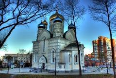 χριστιανικός ρωσικός ναός Στοκ φωτογραφία με δικαίωμα ελεύθερης χρήσης