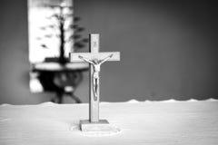χριστιανικός σταυρός Γραπτή φωτογραφία του Πεκίνου, Κίνα Στοκ Εικόνα