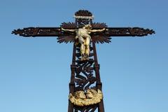 Χριστιανικός σταυρός σε ARS sur Formans Στοκ Εικόνες