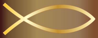 Χριστιανικός χρυσός ψαριών ελεύθερη απεικόνιση δικαιώματος