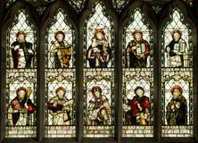 Χριστιανικό λεκιασμένο Άγιοι παράθυρο γυαλιού Στοκ Φωτογραφίες