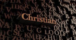 Χριστιανός - ξύλινες τρισδιάστατες επιστολές/μήνυμα Στοκ εικόνα με δικαίωμα ελεύθερης χρήσης