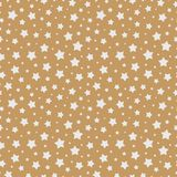 Χριστουγέννων άσπρο χρώμα σχεδίων αστεριών άνευ ραφής στο χρυσό υπόβαθρο για την πώληση Χριστουγέννων διανυσματική απεικόνιση