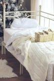 Χριστουγέννων δασικός knurled ευρύς χειμώνας ιχνών πρωινού χιονώδης Στοκ φωτογραφία με δικαίωμα ελεύθερης χρήσης