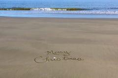 Χριστουγέννων νότιο καλοκαίρι άμμου ημισφαιρίου εύθυμο Στοκ Εικόνες