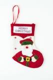 Χριστουγέννων δώρων διανυσματικό λευκό καλτσών απεικόνισης κόκκινο Στοκ Φωτογραφίες