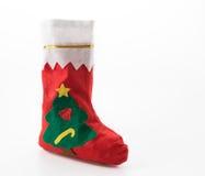 Χριστουγέννων δώρων διανυσματικό λευκό καλτσών απεικόνισης κόκκινο Στοκ Εικόνα