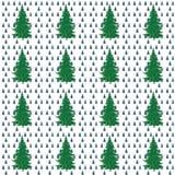 Χριστουγεννιάτικα δέντρα, ζωγραφική, άνευ ραφής Στοκ Φωτογραφία