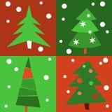 Χριστουγεννιάτικα δέντρα - πρότυπο Στοκ Φωτογραφίες