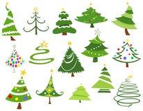 Χριστουγεννιάτικα δέντρα διανυσματική απεικόνιση
