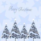 χριστουγεννιάτικα δέντρ&alph Στοκ φωτογραφία με δικαίωμα ελεύθερης χρήσης