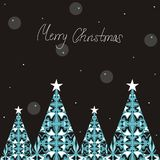 χριστουγεννιάτικα δέντρ&alph Στοκ Φωτογραφία
