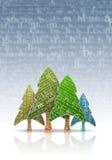 χριστουγεννιάτικα δέντρ&alph διανυσματική απεικόνιση