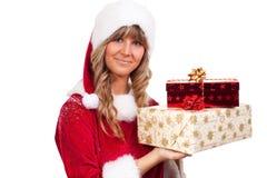 χριστουγεννιάτικα δώρα μ&e Στοκ Εικόνα