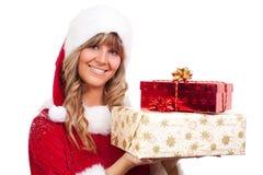 χριστουγεννιάτικα δώρα μ&e Στοκ Φωτογραφία