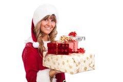 χριστουγεννιάτικα δώρα μ&e Στοκ εικόνες με δικαίωμα ελεύθερης χρήσης