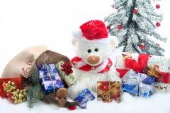 χριστουγεννιάτικα δώρα teddy Στοκ Εικόνα