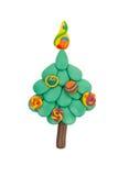 Χριστουγεννιάτικο δέντρο από το plasticine Στοκ εικόνες με δικαίωμα ελεύθερης χρήσης