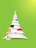 Χριστουγεννιάτικο δέντρο εγγράφου Στοκ φωτογραφία με δικαίωμα ελεύθερης χρήσης
