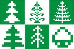 Χριστουγεννιάτικο δέντρο εικονοκυττάρου Στοκ Εικόνες