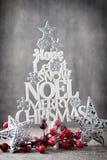 Χριστουγεννιάτικο δέντρο, επιθυμία Noel, ερυθρελάτες των επιστολών στοκ εικόνες με δικαίωμα ελεύθερης χρήσης