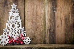 Χριστουγεννιάτικο δέντρο, επιθυμία Noel, ερυθρελάτες των επιστολών στοκ φωτογραφία με δικαίωμα ελεύθερης χρήσης