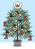 Χριστουγεννιάτικο δέντρο κάουμποϋ ελεύθερη απεικόνιση δικαιώματος