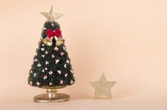 Χριστουγεννιάτικο δέντρο και ένα αστέρι Στοκ Εικόνα