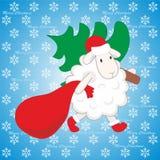 Χριστουγεννιάτικο δέντρο και αρνί Στοκ φωτογραφία με δικαίωμα ελεύθερης χρήσης