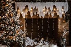 Χριστουγεννιάτικο δέντρο και διακόσμηση Στοκ Φωτογραφία