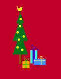 Χριστουγεννιάτικο δέντρο και δώρα Στοκ Φωτογραφίες