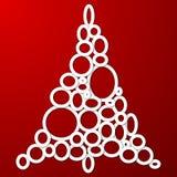 Χριστουγεννιάτικο δέντρο κύκλων Στοκ Εικόνα