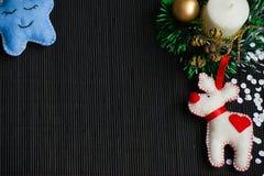 Χριστουγεννιάτικο δέντρο με τα παιχνίδια Στοκ Φωτογραφία